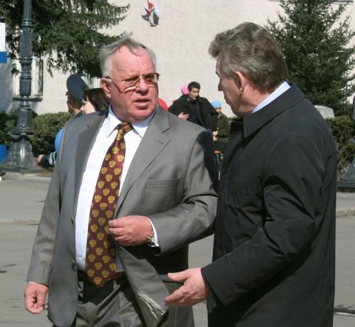 Глава республики Александр Бердников и главный федеральный инспектор Александр Завьялов