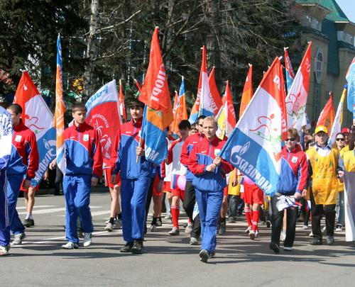 … благодарные «Газпрому» спортсмены…