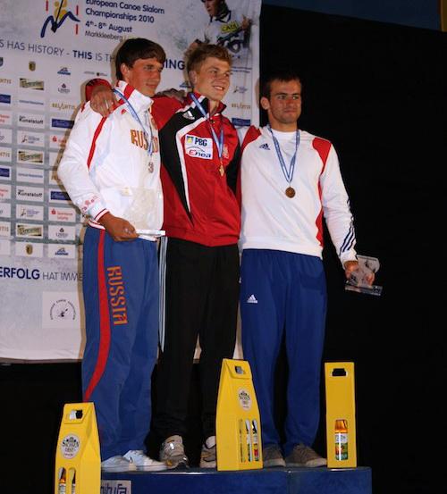 Кирилл Сеткин, Каспер Гондек (Польша) и Килиан Фулон (Франция) – победители среди юниоров в одиночных гонках на каноэ