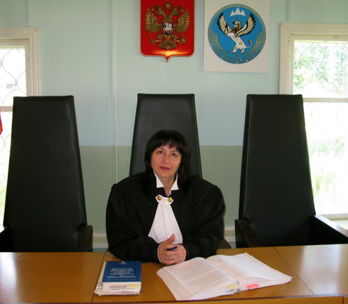 Судья Наталья Сиднова. Фото с сайта Чемальского районного суда