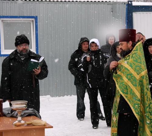 Обряд освящения провел благочинный церквей Горного Алтая Георгий Балакин