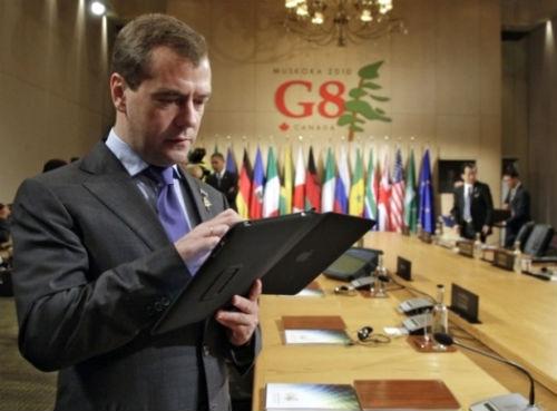 Президент Дмитрий Медведев задал моду на iPad