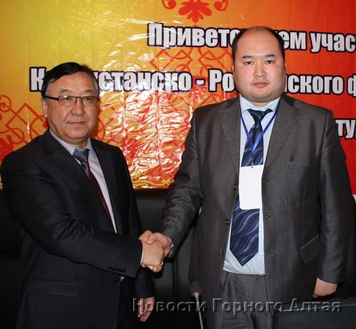 Мерген Екеев и заместитель акима ВКО Тусипхан Тусипбеков подписали протокол намерений