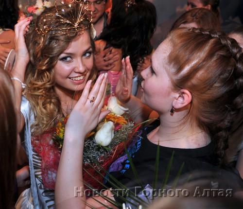 Мисс принимает поздравления