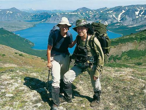 Жюли Бош с супругом на Камчатке, 2005 год