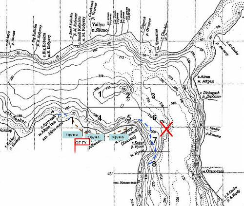 Карта района поисков