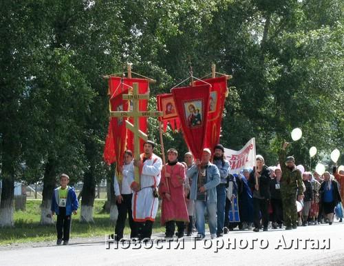 В Крестном ходе приняли участие около 60 человек