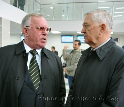 Александр Бердников и владелец аэропорта Альберт Кошкин