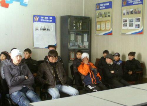 Несовершеннолетние узники СИЗО на встрече с усть-канскими школьниками