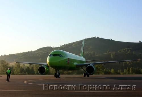 Горно-Алтайск принял первый регулярный авиарейс из Москвы
