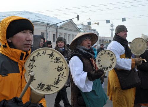 Члены «Ниппондзан Мёходзи» принимали активное участие в февральских митингах оппозиции в Москве