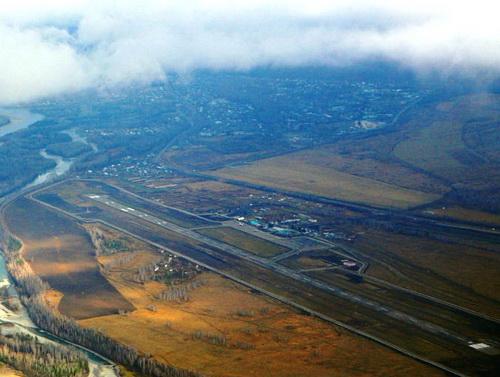 Горно-алтайский аэропорт. Вид сверху