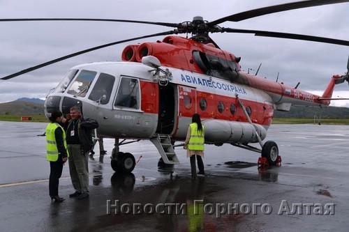 Мумию доставили в аэропорт вертолетом