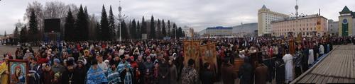 Митинг 4 ноября в Горно-Алтайске (нажмите на изображение, чтобы увидеть полноразмерную панораму)