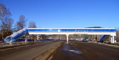 В Республике Алтай построен первый надземный пешеходный переход