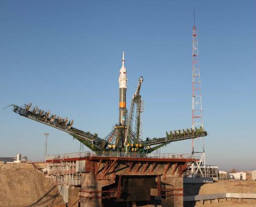 Ракета перед запуском. Фото: Роскосмос
