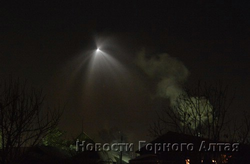 Космический корабль над Горным Алтаем