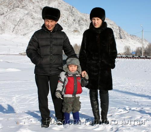 Айдар, Айдурхан и Наталья Течиновы