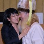 Юбиляр с дочерью