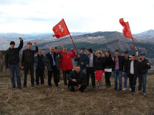 После обсуждения политических вопросов молодые коммунисты поднялись на Тугаю