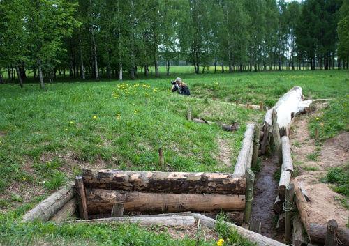 Окоп у деревни Нелидово, где сражались герои-панфиловцы. Фото turometr.ru