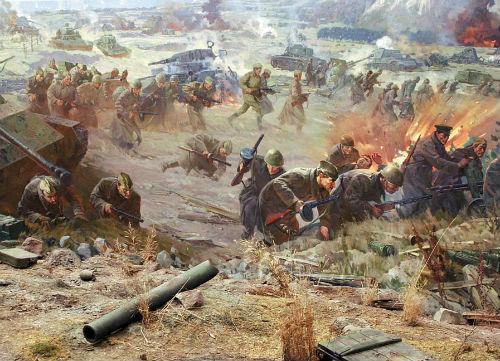 Битва на Лютежском плацдарме. Диорама из музея-заповедника «Битва за Киев»