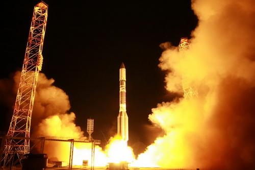 Запуск «Протон-М» с Байконура. Фото Роскосмоса