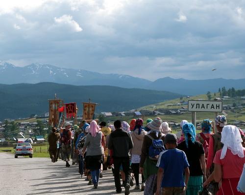 Крестный ход завершился в Улагане