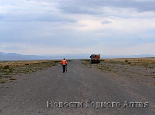 В Кош-Агаче ведутся восстановительные работы на местном аэродроме