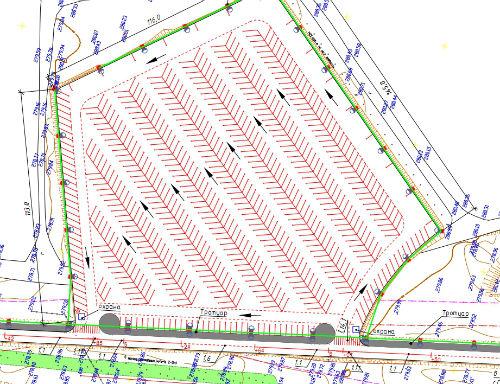 План парковки на 662 машиноместа