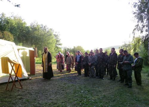 В Майминском районе прошли летние православные военно-патриотические сборы «Катунский рубеж»