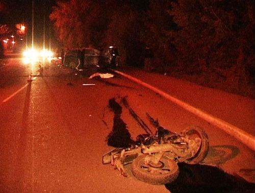 В результате ДТП в Горно-Алтайске погибли водитель и пассажир мотоцикла