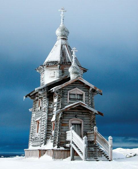 Церковь Святой Троицы на острове Ватерлоо в Антарктиде