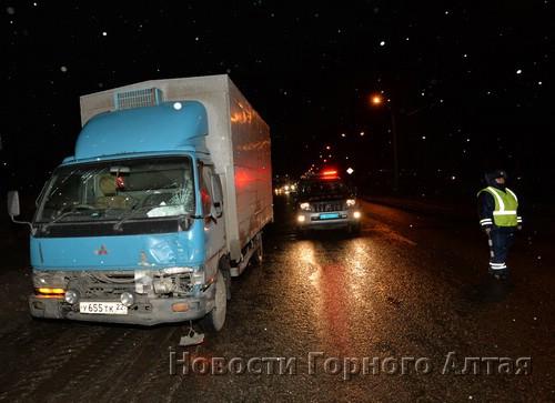 В Майме грузовик сбил пешехода