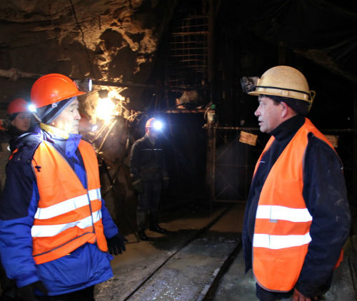 Иван Белеков спустился в шахту