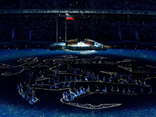 Татуировка с плеча «принцессы Укока» украсила открытие Зимних Паралимпийских игр в Сочи