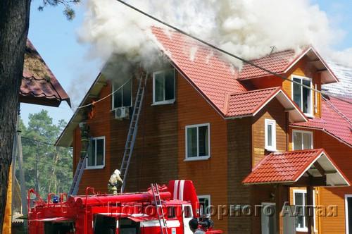 В парк-отеле «Манжерок» произошел пожар