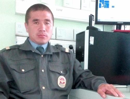Полицейский Аржан Кухаев