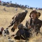 В урочище Жалгыз-Тобе прошел фестиваль беркутиной охоты