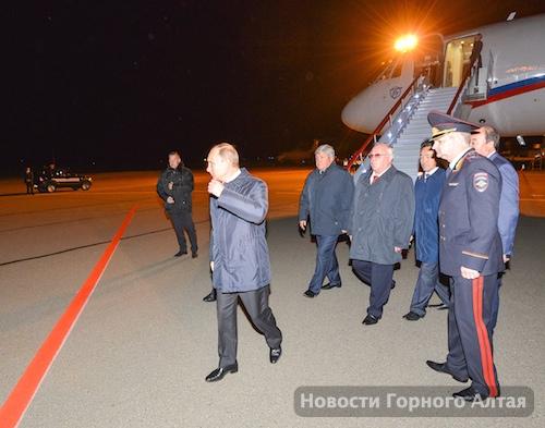 Прибытие Владимира Путина в Горно-Алтайск