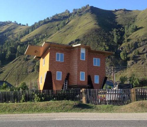В Манжероке строят дома «вверх тормашками»