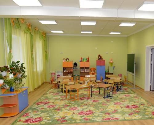 В новом здании оборудованы современные игровые комнаты