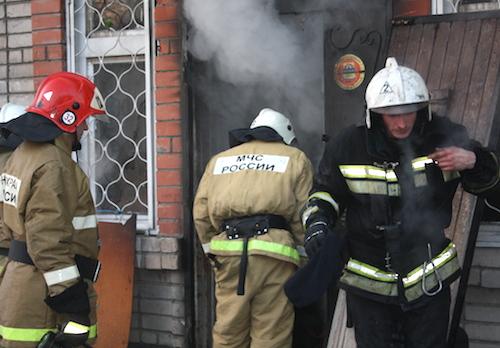 В Горно-Алтайске на Жилмассиве произошел пожар