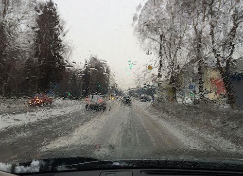Дождь в Горно-Алтайске. Середина февраля.