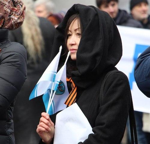 Алтайское землячество на «Антимайдане» в Москве. Фото vk.com/altay_sooktor