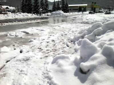Снежные завалы в Чое