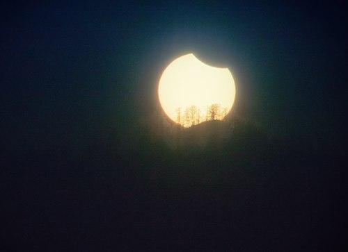 Частичное солнечное затмение. Фото Светланы Казиной (vk.com/svetlana_kazina)
