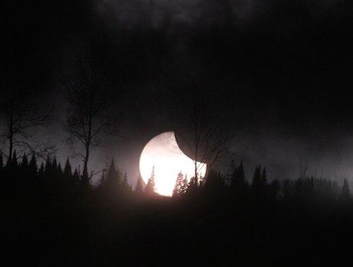 Частичное солнечное затмение. Фото Астрономического клуба РА (vk.com/altaiastro)