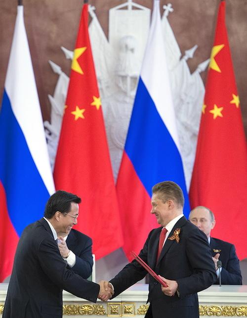 Алексей Миллер и Ван Дунцзинь подписали соглашение о строительстве газопровода «Алтай». Фото gazprom.ru