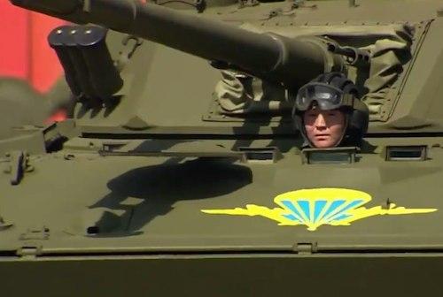 Амыр Самаев на Параде Победы в Москве